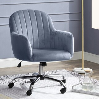 Furniture of America Jessa Velvet Office Chair