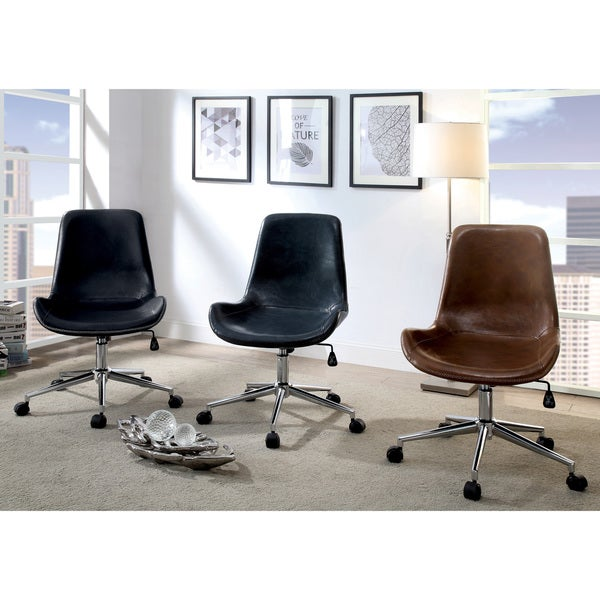 Shop Furniture Of America Crawle Urban Curved Office Chair