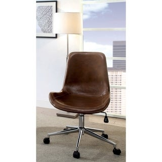 Furniture of America Gill Urban Faux Leather Padded Office Chair
