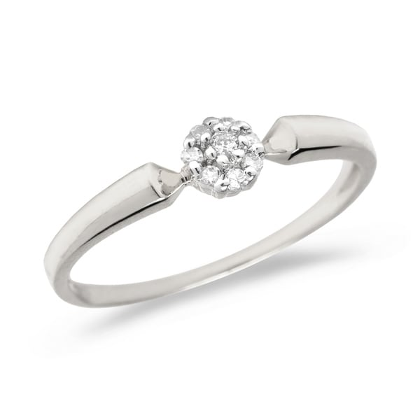 867de3471e60b8 Shop 10K White Gold Diamond Cluster Ring Size 7 - Free Shipping Today -  Overstock - 21954113
