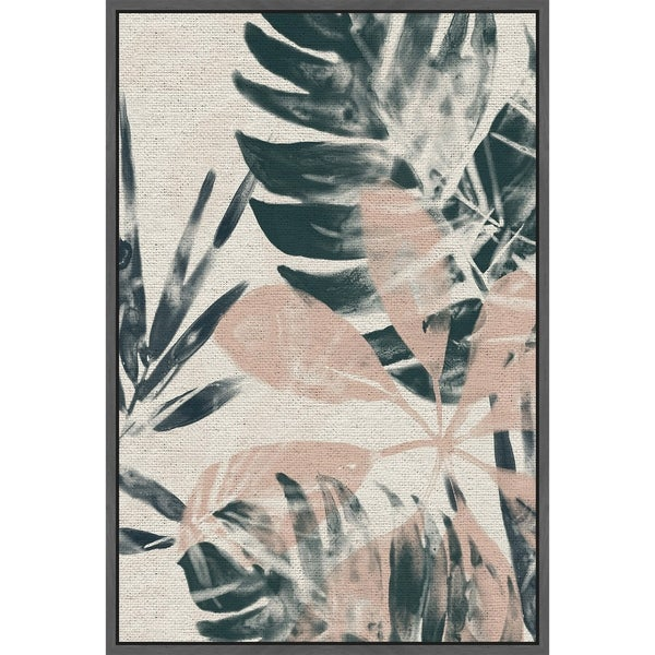 Marmont Hill - Handmade Tropical Blush IV Floater Framed Print on Canvas