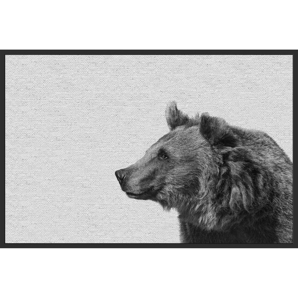 Marmont Hill - Handmade Side Furry Bear II Floater Framed Print on Canvas