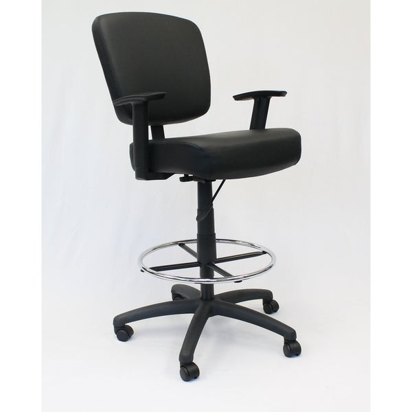 Boss Office Products Black Oversized Drafting Stool