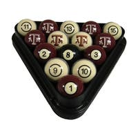 Wave 7 Technologies NCAA Texas A&M Aggies Sports Team Logo Officially Licensed Billiard Ball Set - Numbered