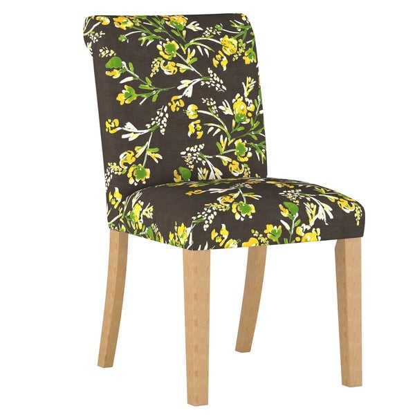 Skyline Furniture Rolled Back Dining Chair In Cherry Blossom Goldenrod