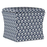 Skyline Furniture Storage Ottoman in Elliot Floral Navy