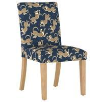 Skyline Furniture Dining Chair in Leopard Run Navy - N/A