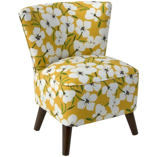 Genial Skyline Furniture Chair In Anemone Field Goldenrod