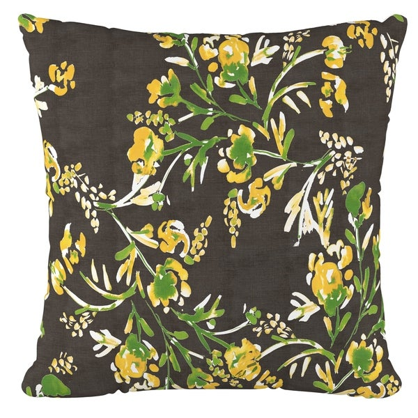 Skyline Furniture Fluffed Polyester 18 X 18 Pillow In Cherry Blossom  Goldenrod