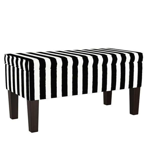 Shop Skyline Furniture Storage Bench In Brush Cabana Black On Sale