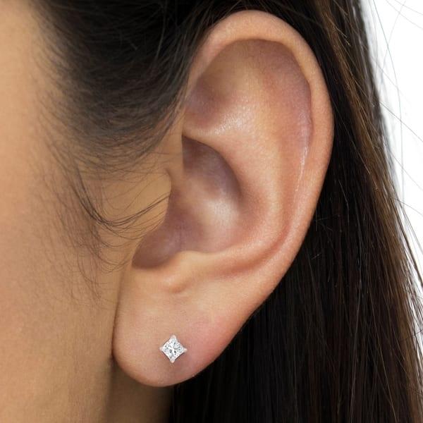 14k White Gold 0 5 Ct Princess Cut Diamond Solitaire