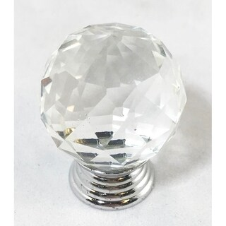 Clear Crystal Ball Design Glass Knobs, 1.5 inch - Set of 6