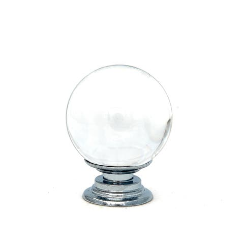 Clear Bubble Round Crystal Glass Knobs, 1 inch -Set of 6