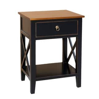 porthos home unique side table cabinet with drawershelf for bedroom - Unique End Tables