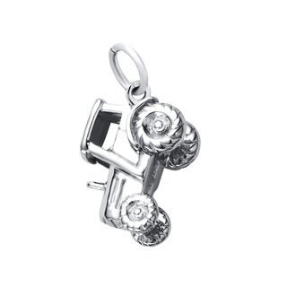 Sterling Silver Tractor Charm