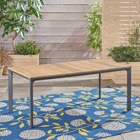 Westcott Outdoor Aluminum and Wood Dining Table by Christopher Knight Home