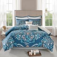Madison Park Melora 8 Piece Cotton Printed Reversible Comforter Set