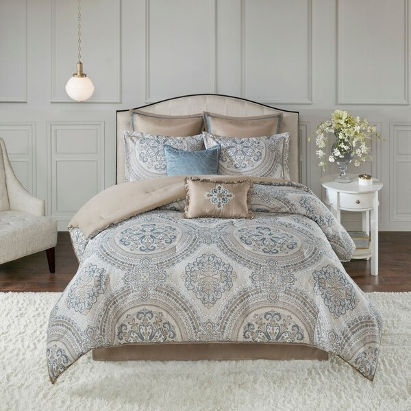 Madison Park Verena 8 Piece Chenille Jacquard Comforter Set