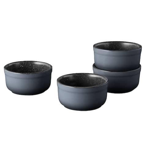 "Gem 3.5"" Stoneware Ramekin Set 0.19qt, Set of 4"