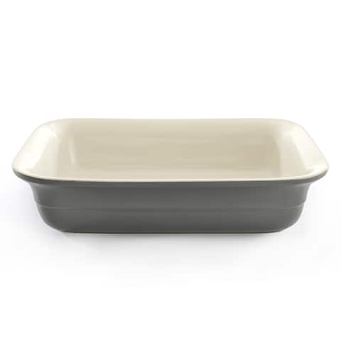 "CollectNCook Rectangular 9.5""x13"" Baking Dish, Gray"