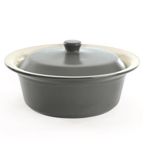 """CollectNCook Round Covered Baking Dish 12"""""""