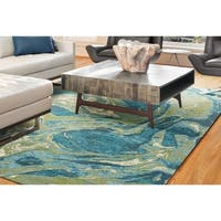 Porch & Den Hamlet Abstract Marbled Area Rug