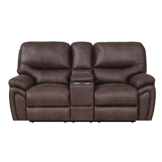 Lydia Dual Power Reclining Console Loveseat