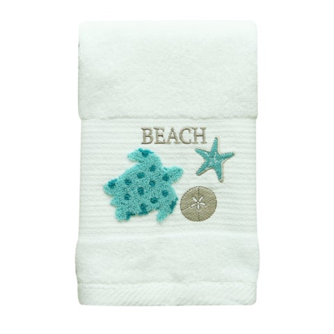 Coastal Patch Sea Turtle hand towel by Bacova