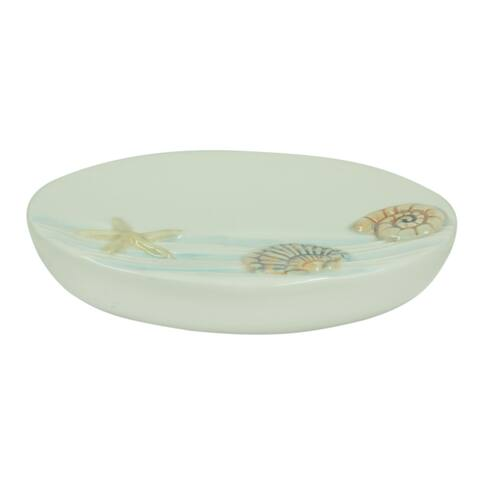 Sea Splash soap dish by Bacova - Blue/White