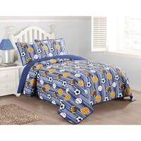 Asher Home 3-piece Sports Dreams Quilt Set