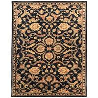 Artist's Loom Astil Collection Wool Floral Pattern Transitional Handmade Area Rug - 9' x 12'