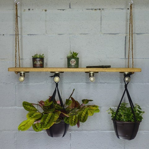 Furniture Pipeline Portland Industrial Chic Hanging Shelf Planter