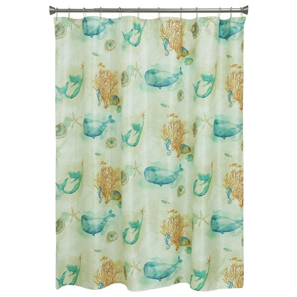 Sea Splash Shower Curtain By Bacova