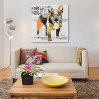 Love My French Bulldog by Michel Keck Canvas Print