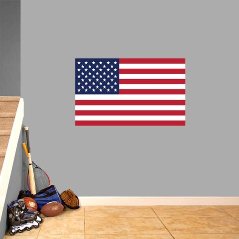 American Flag Printed Wall Decal