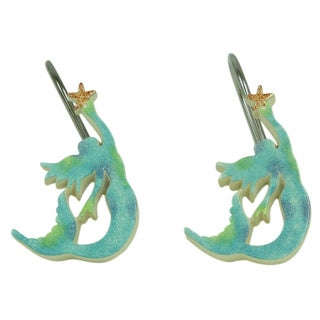 Sea Splash shower curtain hooks by Bacova