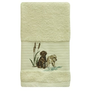 Woodland Dogs hand towel by Bacova