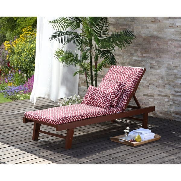 Waverly Olivia Outdoor Chaise Lounge Cushion Overstock 21958012