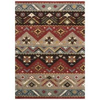 Artist's Loom Asty Collection Handmade Southwestern Wool Rug - 9' x 12'
