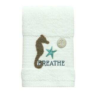 Coastal Patch Seahorse hand towel by Bacova