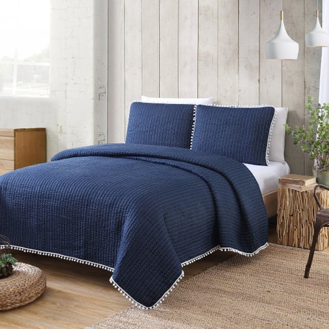Estate Collection Costa Brava Pom Pom Quilt Set