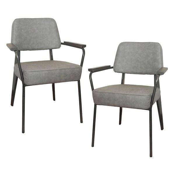 Gratis 2 Fauteuils.Shop Amerihome 2 Piece Fauteuil Direction Accent Chair Set Gray
