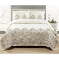 Asher Home Hamilton Embroidered 3-piece Quilt Set