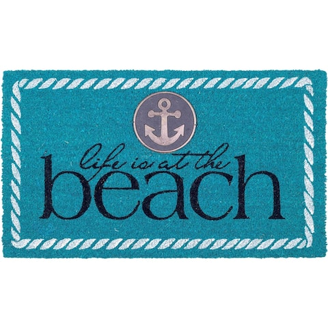 Life Is At The Beach Doormat 18 x 30, Non-Slip, Durable'