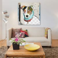 Jack Russell Rat Terrier Mix by Michel Keck Canvas Print