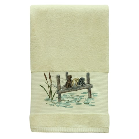 Woodland Dogs bath towel by Bacova