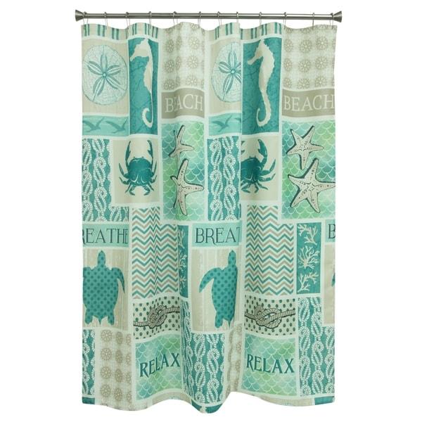 Coastal Patch shower curtain by Bacova