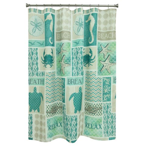 Coastal Patch shower curtain by Bacova