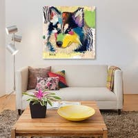 Siberian Husky by Michel Keck Canvas Print