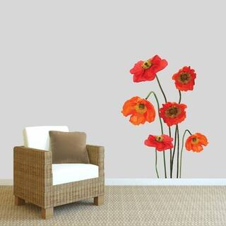 Poppies Printed Wall Decal